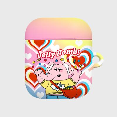 kkikki Jelly bomb-yellow/pink(Hard air pods)