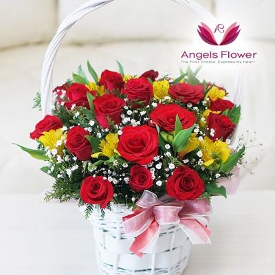 [엔젤스플라워] 장미 한가득_고급형 전국꽃배달서비스 AGFYHF07PR