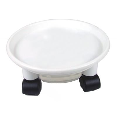 24cm 원형 화분 받침대 이동식 바퀴 물받이 화분받침