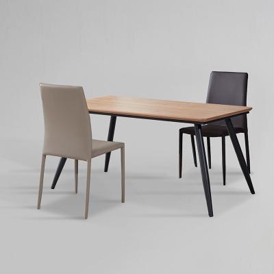 쿠니 무늬목 식탁 세트A 1400 + 의자 2개포함 (착불)