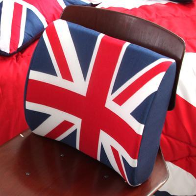 영국 유니온잭 면 메모리폼 등쿠션