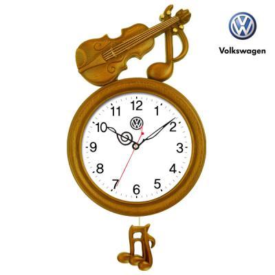 폭스바겐 인테리어 무소음 추 벽시계 VW7512
