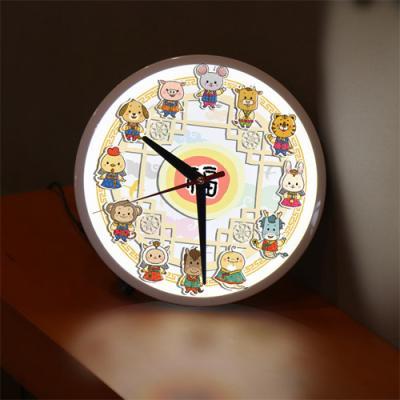 ng073-LED시계액자25R_십이간지