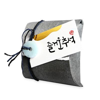 [금박] 즐거운 추석 직사각 [텍] (5개)