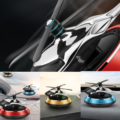 태양열 메탈 헬리콥터 차량용 방향제 자동차 디퓨저