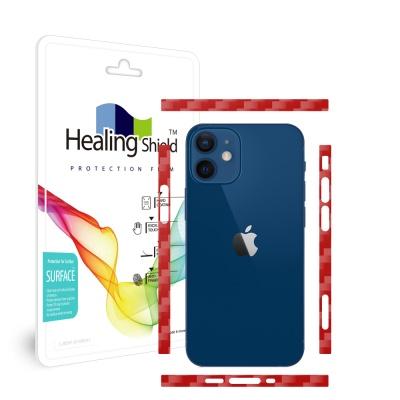 아이폰12 미니 카본레드 측면테두리 보호필름 1세트