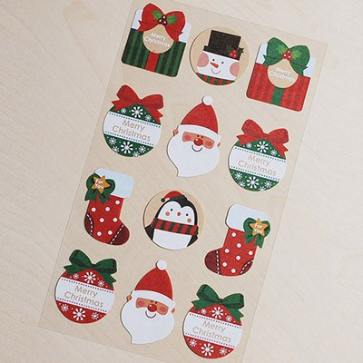 스티커-크리스마스 백박산타