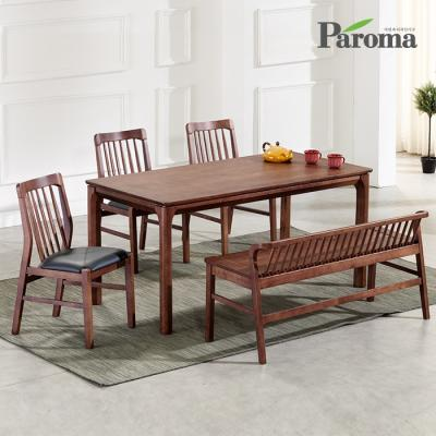 파로마 카라 고무나무원목 4인용 식탁세트 A29