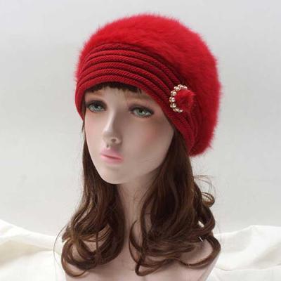 Mujer Invierno knit 꽃장식모자 4color CH1653536