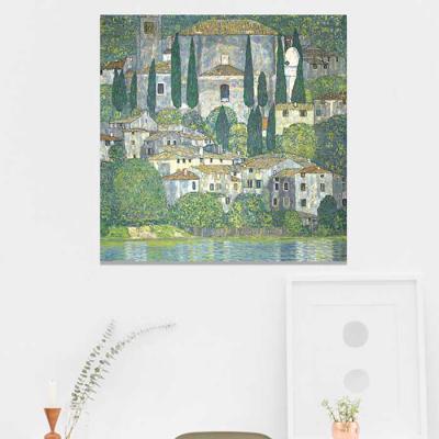 주문제작 액자 Gustav Klimt Church in Cassone
