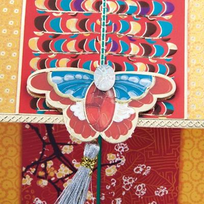 홍나비 매듭 용돈봉투 FB219-5