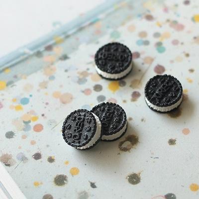 [콩지] 미니어쳐 블랙 쿠키 2P