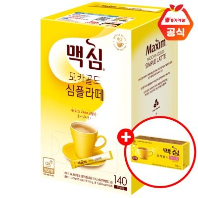 맥심 모카골드 심플라떼 140T+10T(맛랜덤)