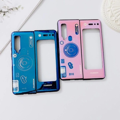 갤럭시Z폴드2 5G/카메라 그립톡 실리콘 휴대폰 케이스