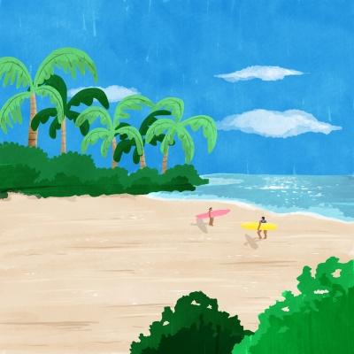 Secret beach 엽서
