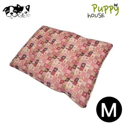 퍼피하우스 플래드 강아지 평방석 (핑크) (M)