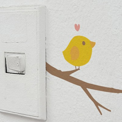 [ichigo] 스위치스티커(나무아기새)