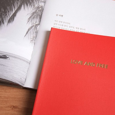 LOVE AND FREE blank note ver.03 - red