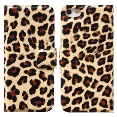 Leopard Flip 브라운 (아이폰 5용)