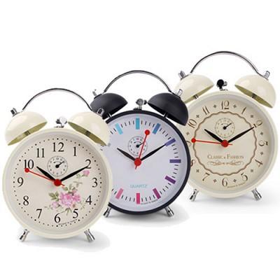 클래식 무소음 자명종 시계