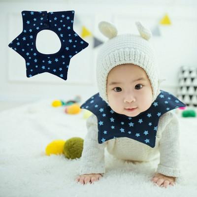 [HARAROI 턱받이]_작은별빛 스타 네이비