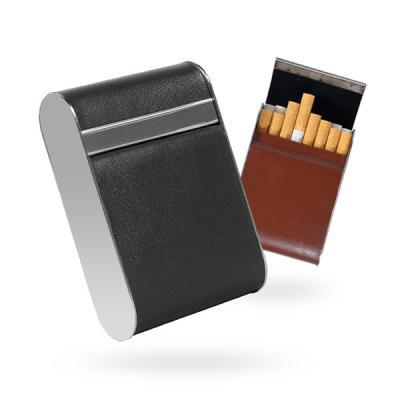 경고사진 가려주는 메탈프레임 가죽 담배케이스Simple