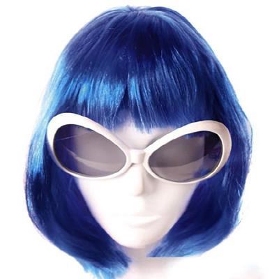 단발머리 가발 (블루)