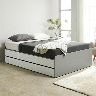 노뎀 높은 2단 전체서랍형 침대 퀸+본넬 매트리스
