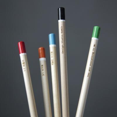 [무료 메시지 각인] 원목연필 5본입세트 [Color Tip]