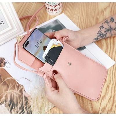 하트 스마트폰 터치 크로스백(핑크)