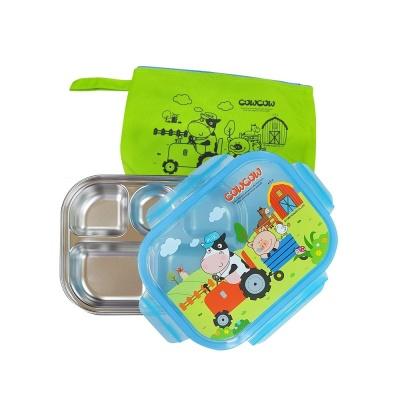 어린이집 유아 소풍 일반 잠금형 도시락세트 가방포함