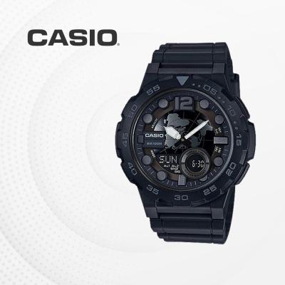 카시오 군인 군용 전자 남성 손목시계 AEQ-100W-1B
