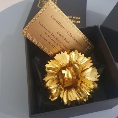 가정의달 24K 황금 카네이션 브로치 세트