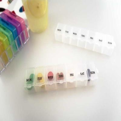 직사각형 오픈형 요일 개별 분리형 알약통 알약케이스