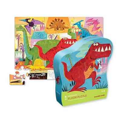 [Crocodile creek]  Dinosaur 36pcs Shaped Floor Puzzle