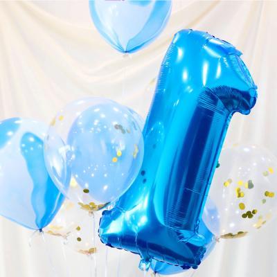 파티풍선세트 - 1주년 (블루)