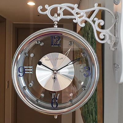 국산 크리스탈 무소음 양면시계 그레이 CH1506919