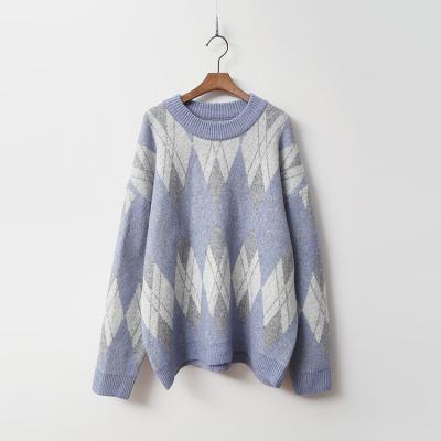 Cashmere Wool Argyle Sweater