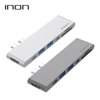 아이논 USB 3.0 C타입 듀얼 7in1 멀티허브 IN-UC310C