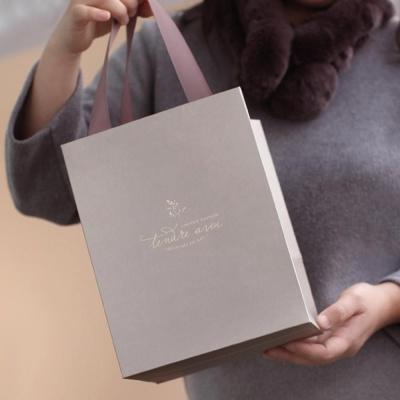 손잡이 금박 종이백 선물 박스 포장 종이 가방