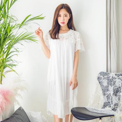 [쿠비카]시원한 레이스 쉬폰 원피스 여성잠옷 W184
