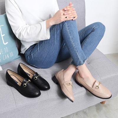 골드메탈 고리라인 패션 여성로퍼
