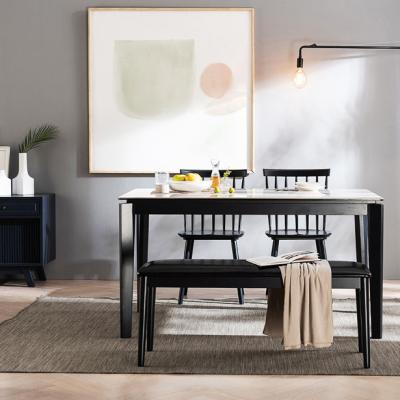[채우리] 테르 이태리 세라믹 4인식탁세트(의자/벤치)