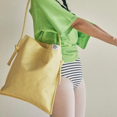 Rope shoulder eco bag_yellow
