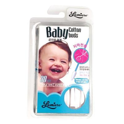 신생아면봉 아기면봉 30개입 치아전용 유아칫솔 7104