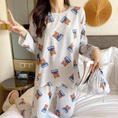 텐드 긴팔 테디베어 여성잠옷 홈웨어 파자마세트