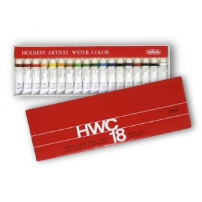HWC 홀베인 수채화 물감 5ml 18색 / 수채물감