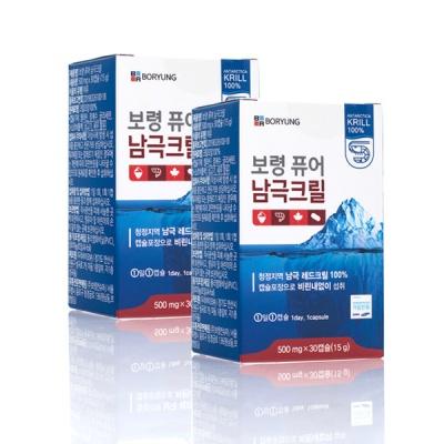 보령 퓨어 남극크릴오일 100%_2개월분 500mg x 60캡슐