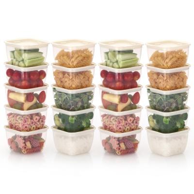 한끼밥 냉동밥 전자렌지용기 400ml 20개(크림)