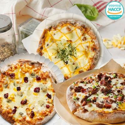 화덕에 구워낸 치즈피자+불고기피자+고르곤베리 피자